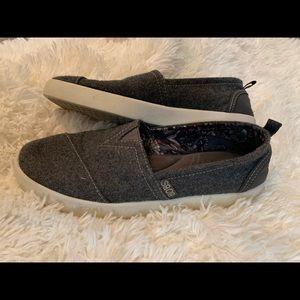 Bobs sketchers gray slip on shoes